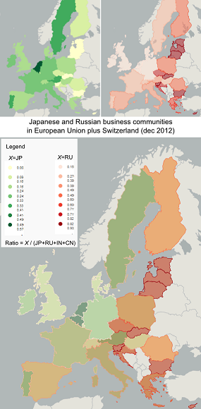 Japanese and Russian Business Comunities in EU plus Switzerland (vFSmall)
