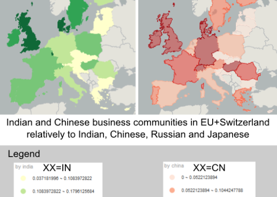 Onomastics of Indian and Chinese company directors in the European Union (EU plus Switzerland)