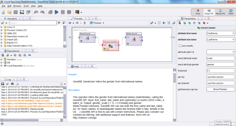 20140905_Genderizing_TheEUDirectory_using_RapidMiner
